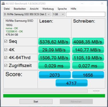 3x950 Pro RAID0 AS SSD