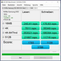 950 Pro RAID0 AS SSD_IOPS(samsung driver)