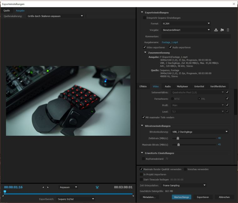 Footage_Export_settings_H.264